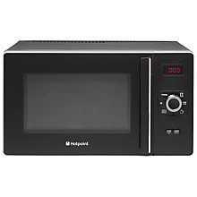 Buy Hotpoint MWH2521B Freestanding Microwave, Black Online at johnlewis.com