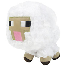 "Buy Minecraft 7"" Plush Toy, Sheep Online at johnlewis.com"