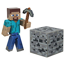 Buy Minecraft Overworld Steve With Diamond Armour Action Figure Online at johnlewis.com