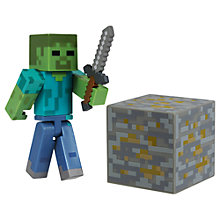 Buy Minecraft Core Zombie Action Figure Online at johnlewis.com