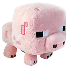"Buy Minecraft 7"" Plush Toy, Pig Online at johnlewis.com"