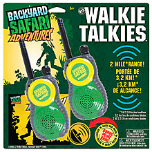 Buy Backyard Safari Adventures Walkie Talkies Online at johnlewis.com