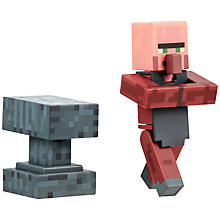 Buy Minecraft Overworld Villager Blacksmith Action Figure Online at johnlewis.com