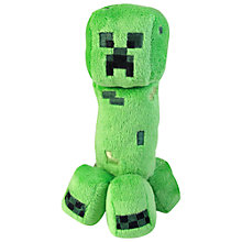 "Buy Minecraft 7"" Plush Toy, Creeper Online at johnlewis.com"