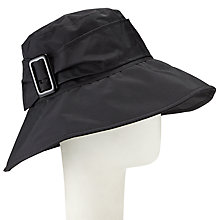 Buy John Lewis Down Brim Buckle Rain Hat, Black Online at johnlewis.com
