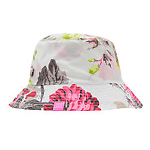 Buy Joules Rainyday Posy Hat, Grey/Pink Online at johnlewis.com