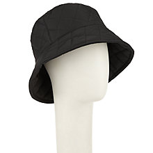 Buy John Lewis Quilted Bucket Rain Hat, Black Online at johnlewis.com