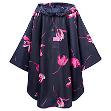 Buy Joules Waterproof Tulip Pattern Poncho, Navy/Hot Pink Online at johnlewis.com