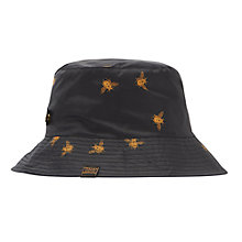 Buy Joules Rainyday Bees Hat, Black/Gold Online at johnlewis.com