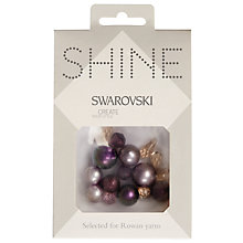 Buy Rowan Swarovski Beads, 7-16mm, Pack of 17, Amethyst Online at johnlewis.com