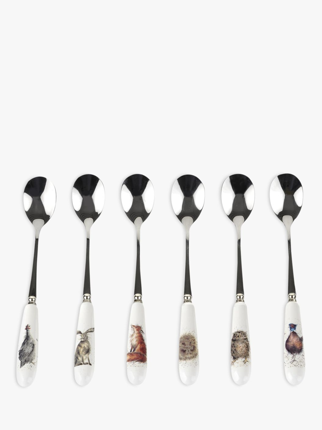 Royal Worcester Royal Worcester Wrendale Teaspoons, Set of 6