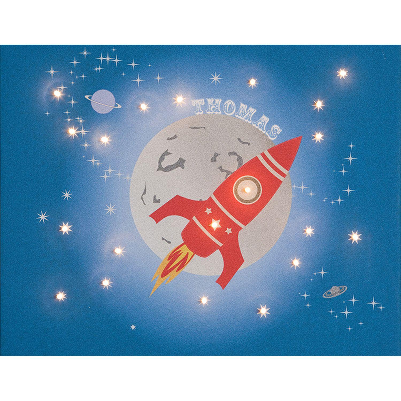 Illuminated Canvas Illuminated Canvas - Personalised Rocket Canvas, 60 x 40cm