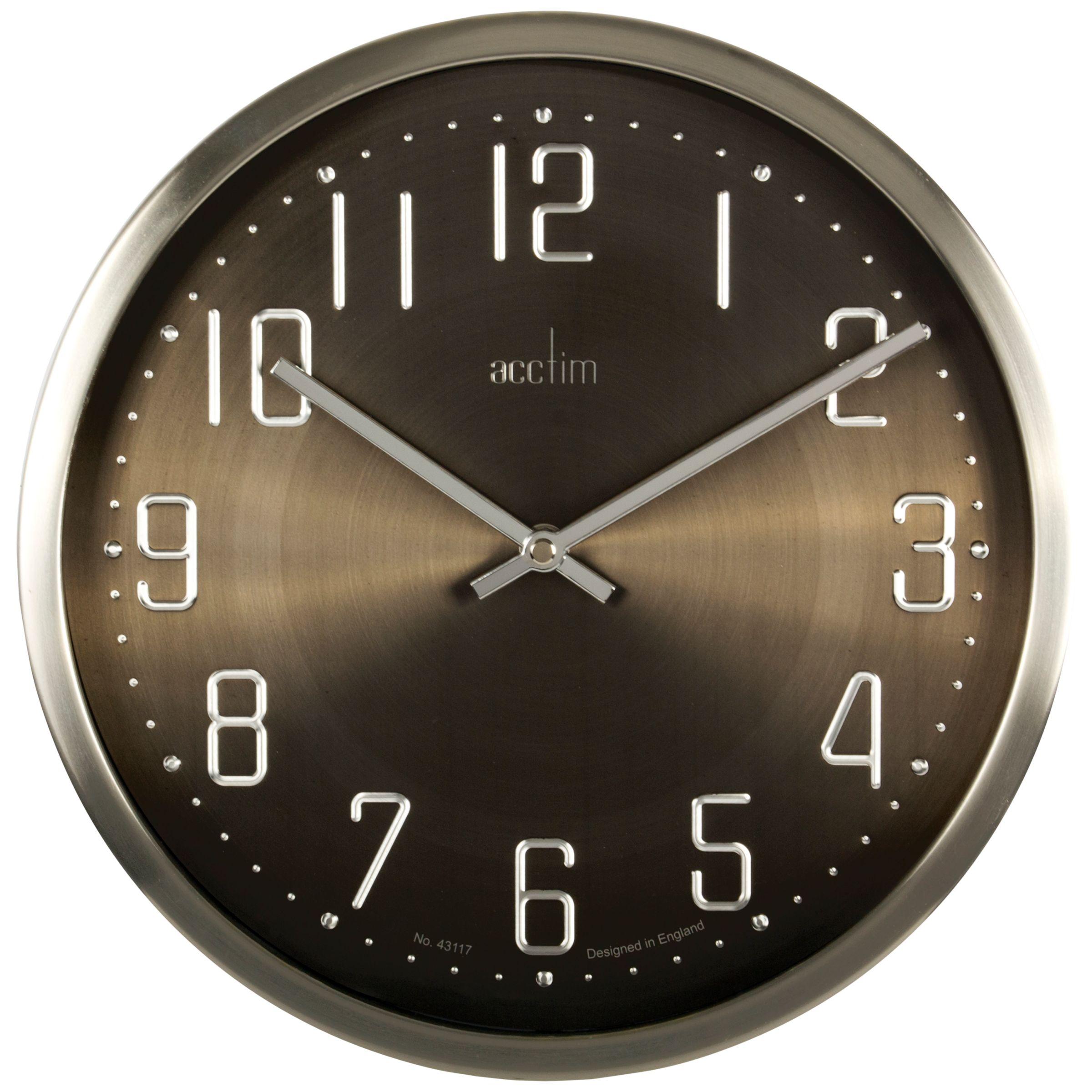Acctim Acctim Alvik Wall Clock, Silver, 29cm