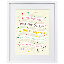 Buy Modo Creative Personalised Ribbon Framed Print, 51 x 40.5cm Online at johnlewis.com