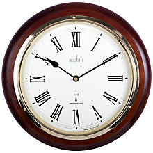Buy Acctim Durham Radio Controlled Wall Clock, Mahogany, 32cm Online at johnlewis.com