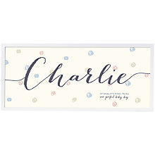 Buy Modo Creative Personalised Name Frame Print, 18 x 18cm Online at johnlewis.com