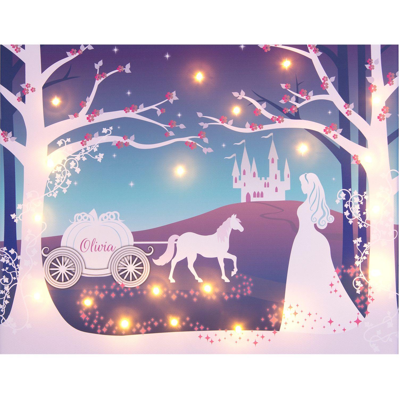 Illuminated Canvas Illuminated Canvas - Personalised Cinderella LED Canvas, 60 x 40cm