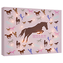 Buy Illuminated Canvas - Personalised Horses Canvas, 60 x 40cm Online at johnlewis.com