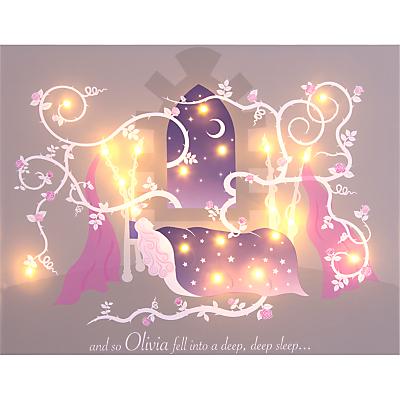 Illuminated Canvas  Personalised Sleeping Beauty Canvas 60 x 40cm