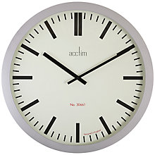 Buy Acctim Monument Wall Clock, Silver Online at johnlewis.com