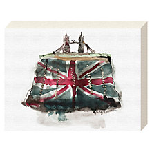 Buy Bridget Davies - Tower Bridge Clutch Canvas Print, 20 x 15cm Online at johnlewis.com