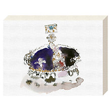 Buy Bridget Davies - Purple Crown Canvas Print, 20 x 15cm Online at johnlewis.com
