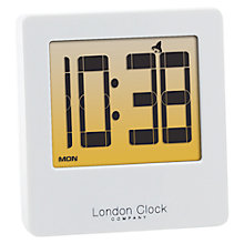 Buy LC Designs LCD Screen Alarm Clock, White Online at johnlewis.com