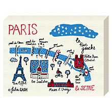Buy Julia Gash - A Snapshot Of The Rive Gauche, Paris, Canvas Print, 20 x 15cm Online at johnlewis.com