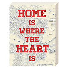 Buy Jeremy Harnell - Home Is Where The Heart Is Canvas Print, 20 x 15cm Online at johnlewis.com