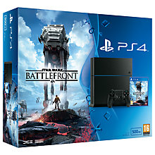 Buy Sony PlayStation 4 Console, 500GB, Star Wars Battlefront Online at johnlewis.com