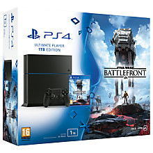 Buy Sony PlayStation 4 Console, 1TB, Star Wars Battlefront Online at johnlewis.com