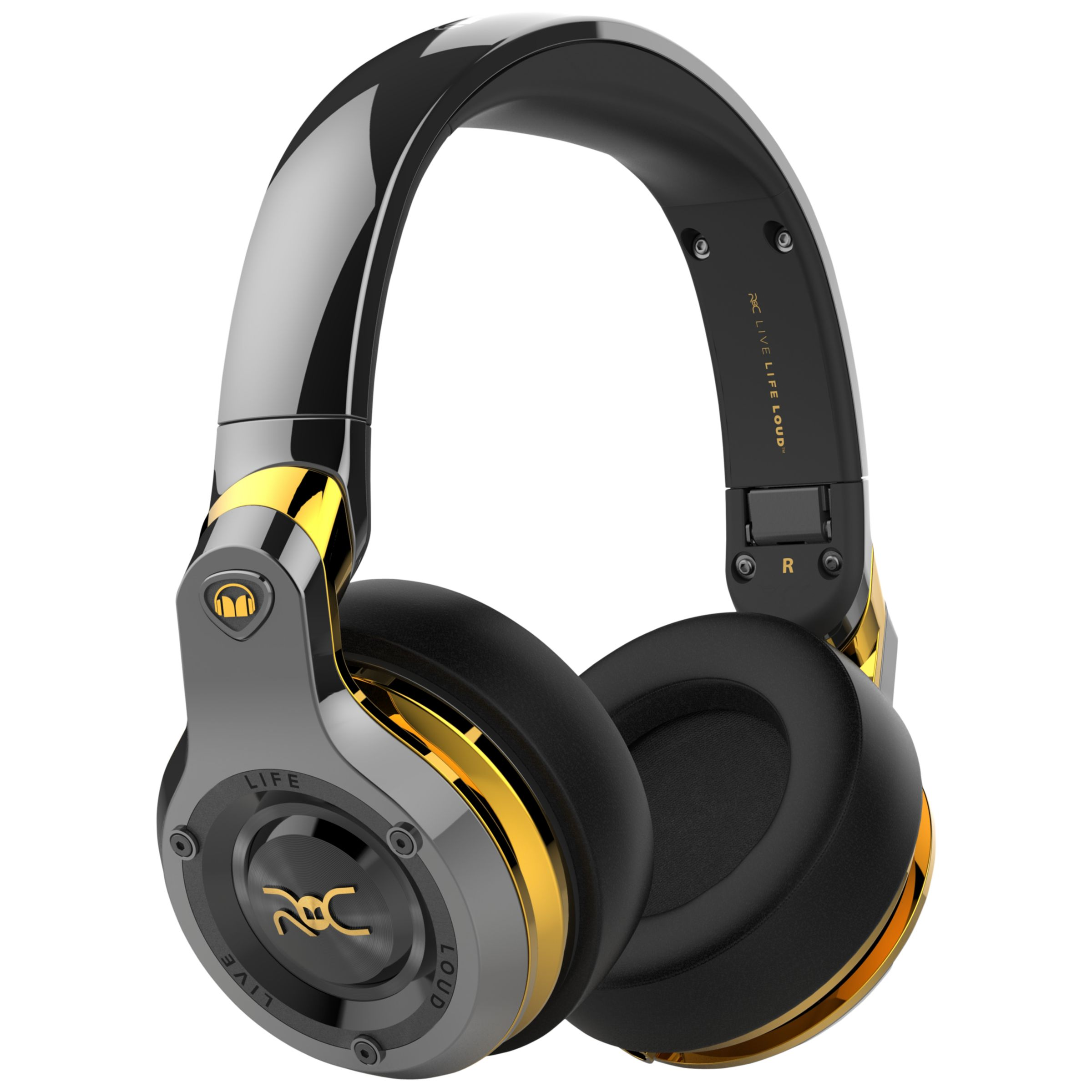 Monster Monster ROC Sport Black Platinum Over-Ear Headphones With Built-In Mic, Total Noise Isolation & Carry Case, Black