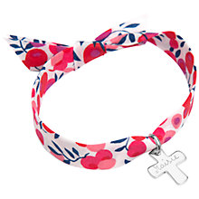Buy Merci Maman Personalised Sterling Silver Cross Liberty Bracelet Online at johnlewis.com
