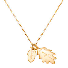 Buy Merci Maman 18ct Gold Plated Personalised Acorn Pendant, Gold Online at johnlewis.com