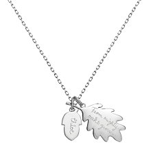 Buy Merci Maman Sterling Silver Personalised Acorn Necklace Online at johnlewis.com