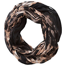 Buy Betty Barclay Animal Print Snood, Black/Taupe Online at johnlewis.com