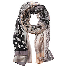 Buy Betty Barclay Multi Print Scarf, Taupe/Apricot Online at johnlewis.com