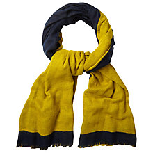 Buy White Stuff Reversible Plain Scarf, Navy Online at johnlewis.com