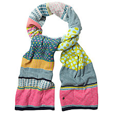 Buy White Stuff Stripey Patchwork Scarf, Multi Online at johnlewis.com