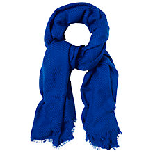 Buy White Stuff Diamond Weave Scarf, Blue Online at johnlewis.com