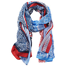 Buy Betty Barclay Multi Print Scarf, Blue/Red Online at johnlewis.com