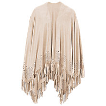 Buy Betty Barclay Fringed Poncho, Pastel Sand Online at johnlewis.com