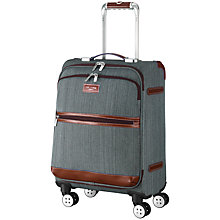 Buy Ted Baker Softside 4-Wheel 54.5cm Small Suitcase, Grey Online at johnlewis.com