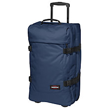 Buy Eastpak Tranverz 2-Wheel 67cm Medium Holdall, Nightdrive Navy Online at johnlewis.com