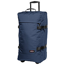 Buy Eastpak Tranverz 2-Wheel 79cm Large Holdall, Nightdrive Navy Online at johnlewis.com
