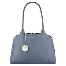 Buy Radley Millbank Medium Leather Tote Bag, Grey Online at johnlewis.com