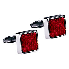 Buy Denison Boston Mindy Check Cufflinks Online at johnlewis.com