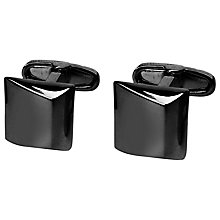 Buy Denison Boston Moderno Square Cufflinks, Black Online at johnlewis.com