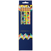Buy Galison Foiled Geometric Pencil Set, Pack of 8 Online at johnlewis.com