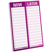Buy Knock Knock Now Later Notepad Online at johnlewis.com
